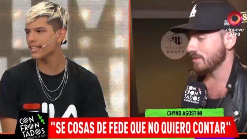 Chyno Agostini dio más detalles del episodio que vivió con Fede Bal: Fue shockeante, muy confuso, me cambió la percepción de cómo lo veía