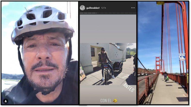 Las vacaciones de Tinelli en San Francisco: el video que subió a las redes cruzando el Golden Gate