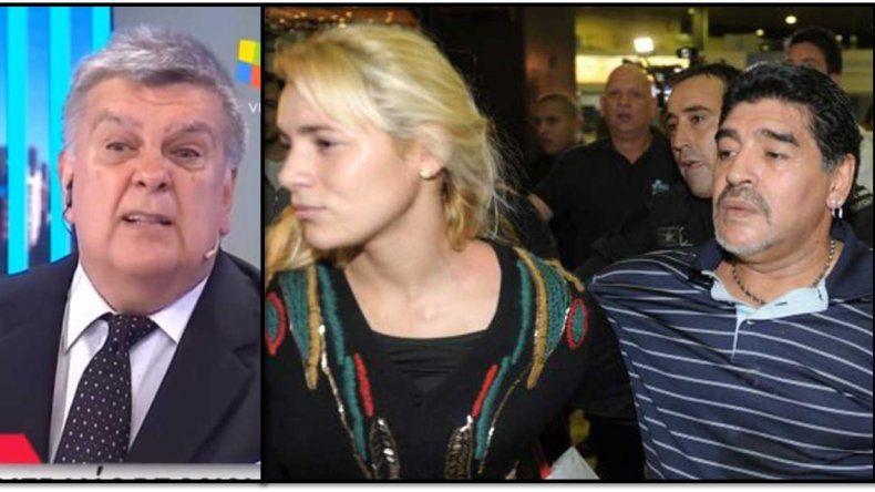 Polémica versión de Ventura: Rocío Oliva habría tirado por una escalera a Maradona