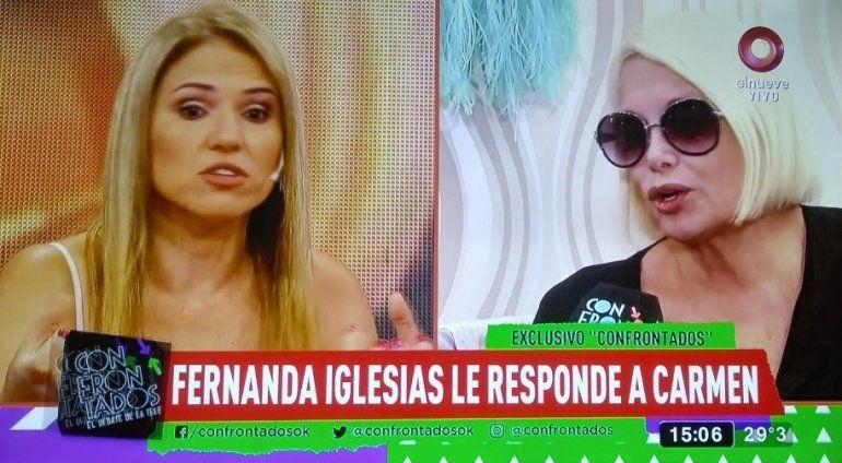 Fernanda Iglesias le respondió a Carmen Barbieri: No me gusta la actitud, podrían haber arreglado todo de manera más amorosa