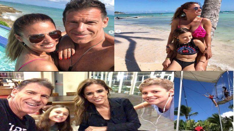 Las paradisíacas vacaciones de Marina Calabró junto a su novio y su hija: fotos y video