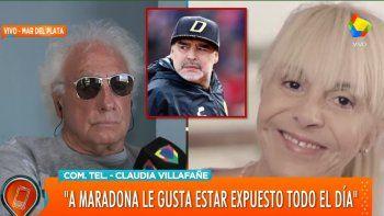 Claudia Villafañe y Guillermo Coppola después de años