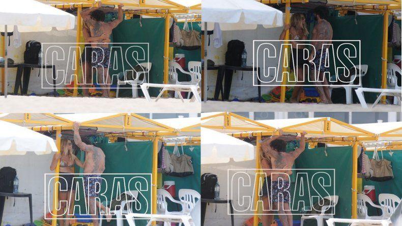Las fotos de la reconciliación: Sabrina Rojas y Luciano Castro, a los besos en la playa