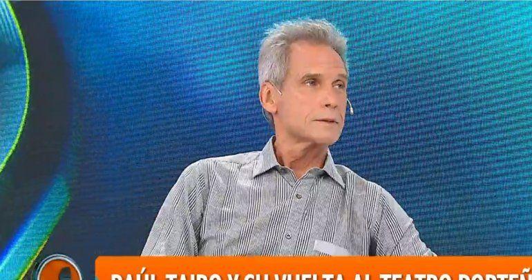 Raúl Taibo contó su experiencia en escenas de sexo y reveló que una actriz se fue de su cama en una película