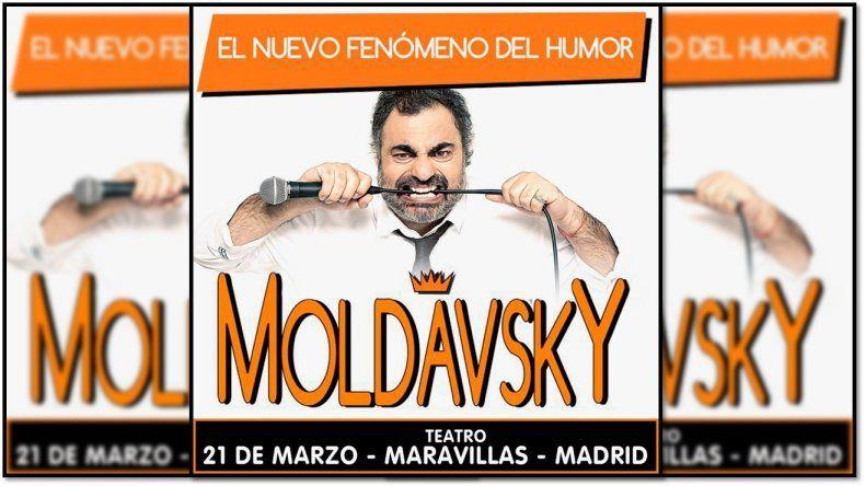 Moldavsky internacional: El humorista hará teatro en Madrid
