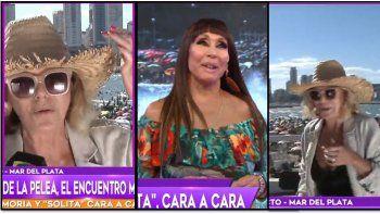 Tensión en un móvil: Moria Casán se cruzó con Soledad Silveyra