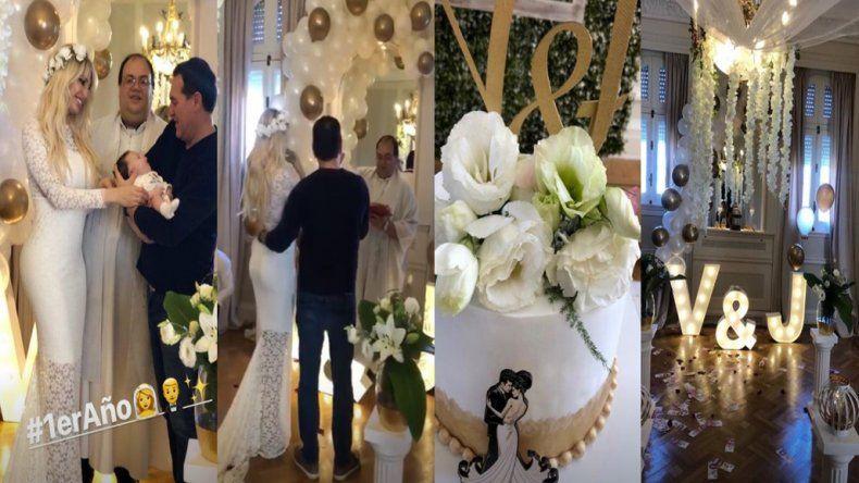 Después del escándalo policial, Vicky Xipolitakis festeja un año de casada en medio de reproches