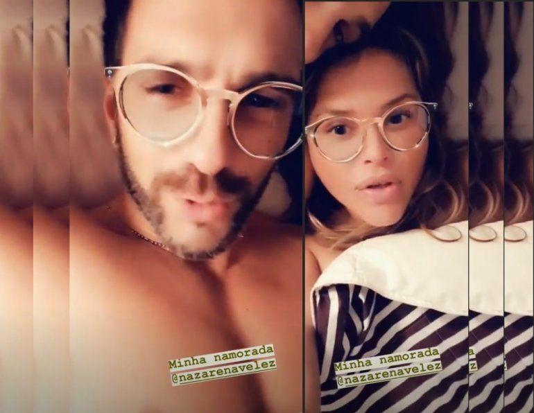 Nazarena Vélez y Santiago Caamaño se muestran divertidos en un video, en la intimidad