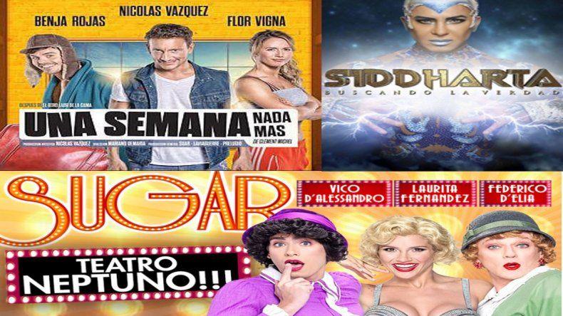 Sugar, Siddharta y Una semana nada más, lo más visto en teatro