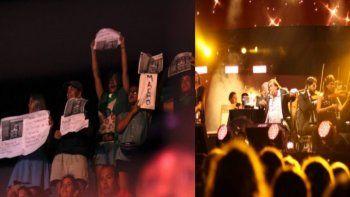 Escracharon a Cacho Castaña en el Festival de Villa María: mirá el video