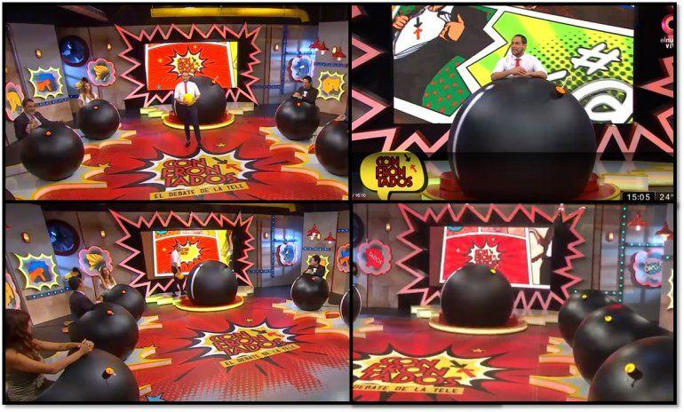 Confrontados arrancó su tercera temporada mostrando la escenografía más original de la televisión: panelistas bomba