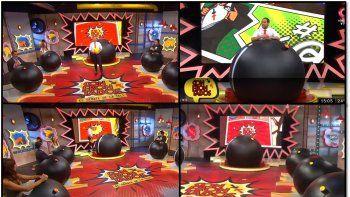 confrontados arranco su tercera temporada mostrando la escenografia mas original de la television: panelistas bomba