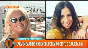 Carmen Barbieri bloqueó a Julieta Bal y reveló el significado del gesto que hizo cuando abuchearon su obra