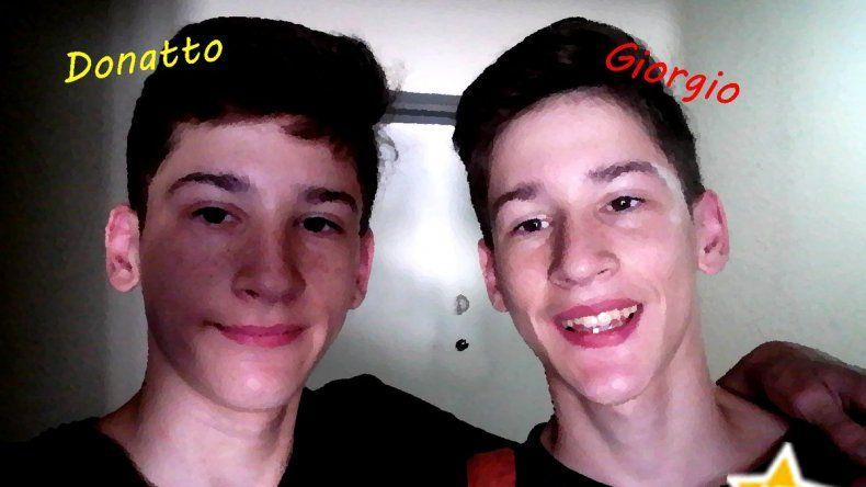 Así están hoy, Donato y Giorgio,  los mellizos de Pipo Cipolatti
