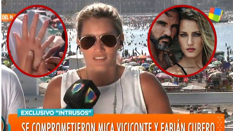 En medio de una confusión: ¿Fabián Cubero le propuso casamiento a Mica Viciconte?