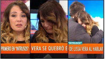 Lissa Vera desconsolada con la muerte de Natacha