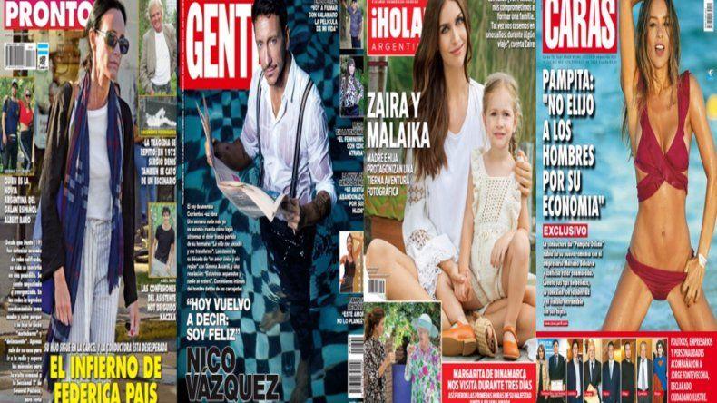 El infierno de Federica Pais y las revistas de la semana