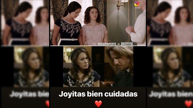 Nancy Dupláa mandó al frente a Pol-ka: mismo vestuario en Argentina, tierra de amor y venganza y en Padre Coraje