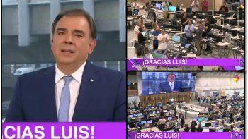Video: La emoción de Luis Otero al despedirse del noticiero de El Trece