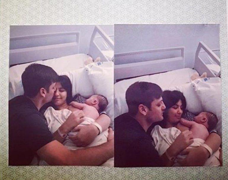 La primera foto de la hija de Rodrigo de la Serna en familia