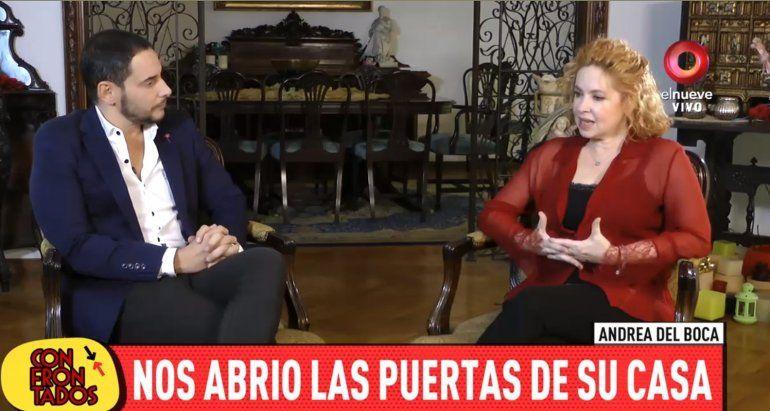 Andrea del Boca abrió las puertas de su casa y anunció que vuelve a la televisión
