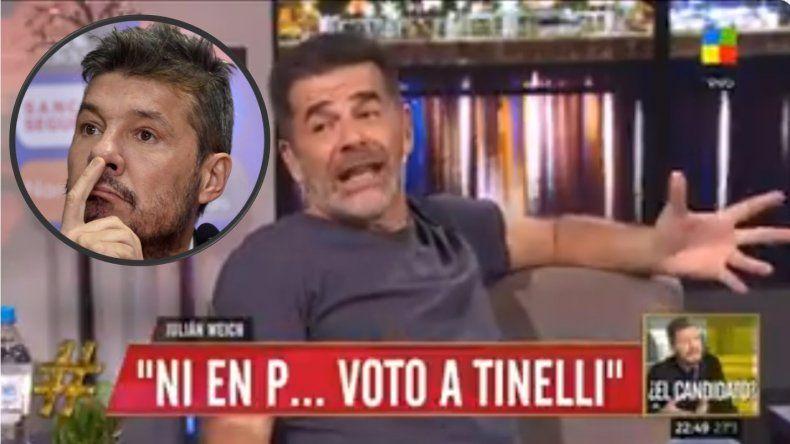 El sincericidio de Julián Weich: Ni en pedo voto a Tinelli