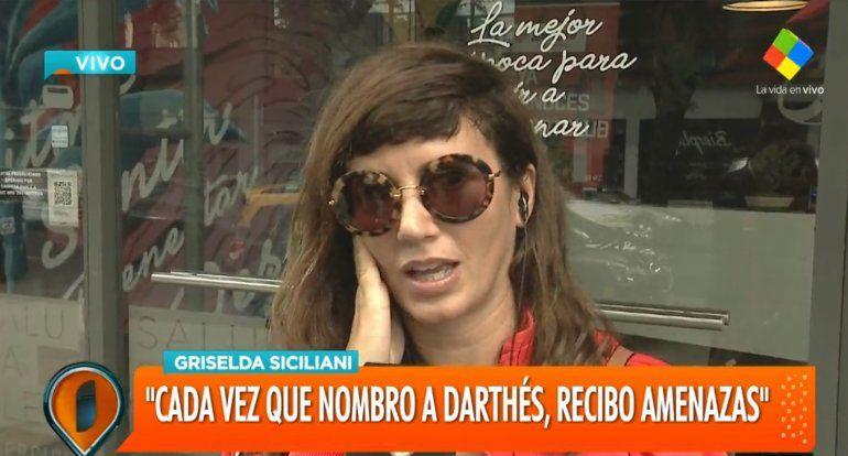 La palabra de Griselda Siciliani después de realizar la denuncia por las amenazas: Leer los mensajes te genera miedo