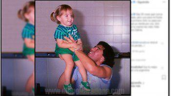 Diego Maradona saludó a Dalma por su cumpleaños