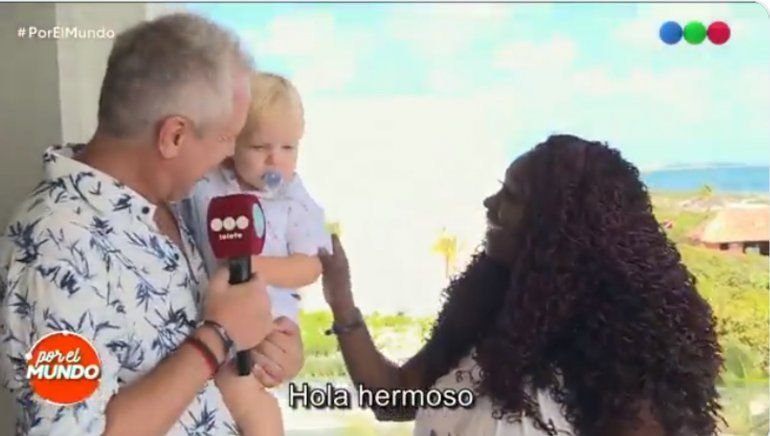Emotivo momento: Marley y Mirko se reencontraron con la mujer que llevó en su vientre al niño