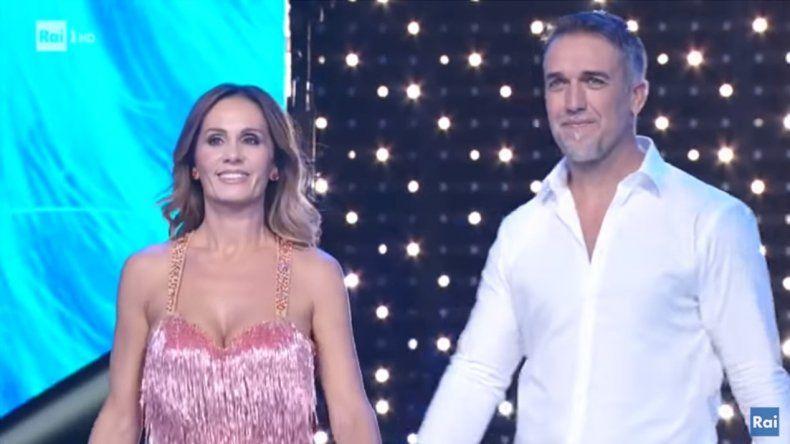 El deslumbrante baile de Gabriel Batistuta en la versión italiana de Bailando por un sueño