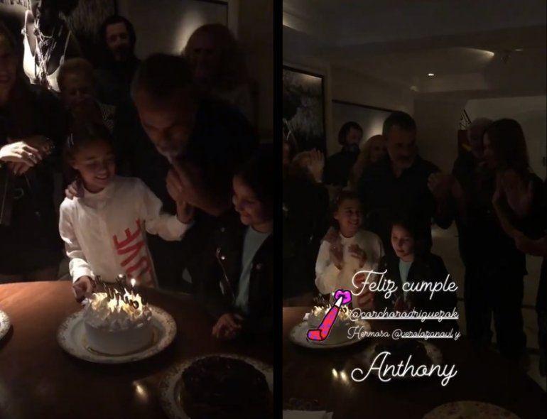 El video del cumpleaños de Corcho Rodríguez: el beso de Vero Lozano y su hija Antonia
