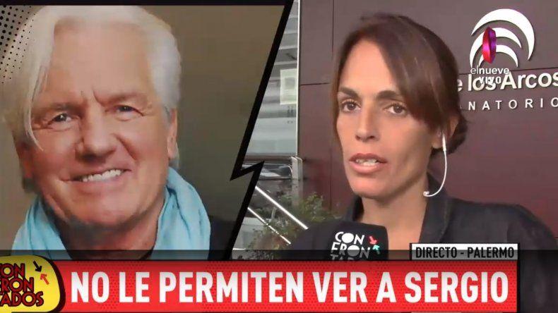La novia de Sergio Denis fue a verlo al sanatorio; la echaron con orden de un juez y le recitó una poesía