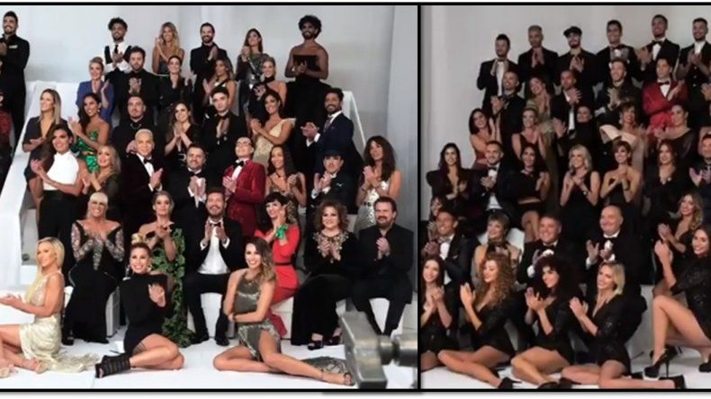 ¿Comenzó la guerra? Polémica foto del Bailando: las actrices cerca de Tinelli, las jurados en el piso
