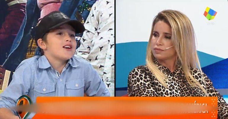 El divertido ida y vuelta entre Flor Peña y su hijo Juan: No me gusta que mi mamá se pelee con todo el mundo