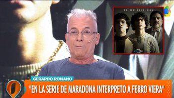 Gerardo Romano reveló una de las escenas más fuertes de la serie de Diego Maradona