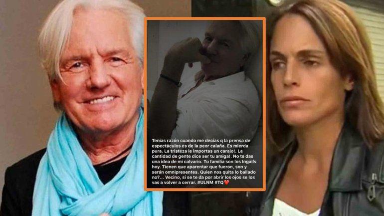 El insólito descargo de la novia de Sergio Denis: La prensa de espectáculos es m... pura