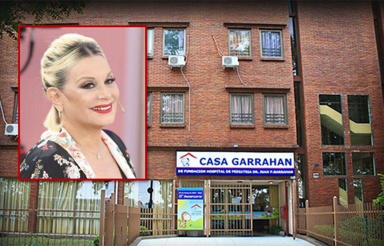 La fundación Garrahan agradece la donación de Carmen Barbieri, quién quedó conmovida con la visita al hogar