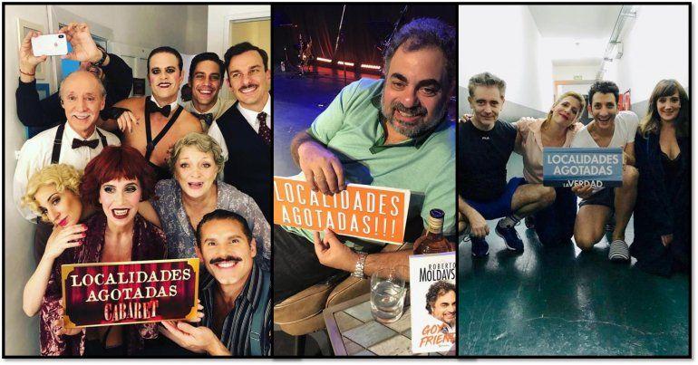 Gustavo Yankelevich festejó el éxito de Cabaret, Moldavsky y La Verdad: Seis funciones agotadas en total