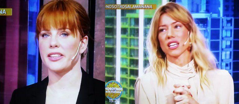 Nicole Neumann volvió a la TV con un furcio y Kämpfer con pómulos abundantes ¿se pasó de lifting?