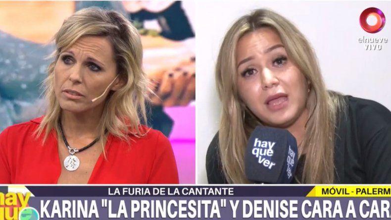 Feroz enfrentamiento entre Denise Dumas y Karina La Princesita: Estás buscando una pelea por un punto de rating