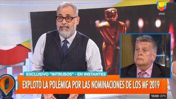Rial enfurecido por los Martín Fierro y Ventura: Mi pelea es contra Aptra