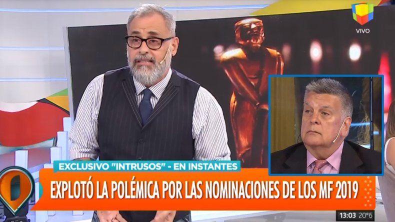 Rial enfurecido por los Martín Fierro y Ventura: Mi pelea es contra Aptra, esto es un show, no tengo sentimientos por ningún miembro