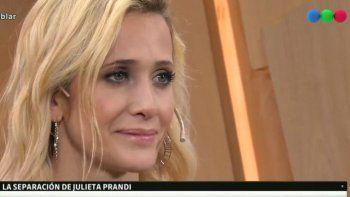 Julieta Prandi habló de su separación y reveló porqué ella tuvo que irse de su casa con sus hijos