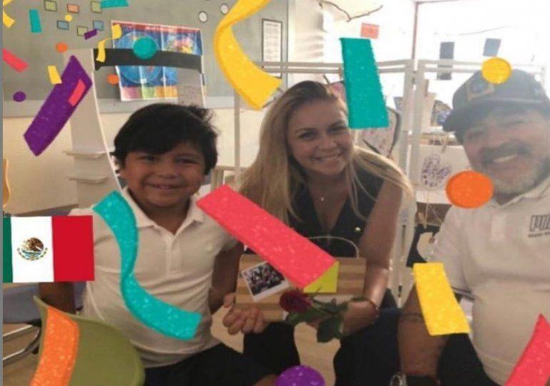 Verónica Ojeda se hartó y se vuelve: una violenta discusión generó que la ex de Maradona regrese al país junto a su hijo