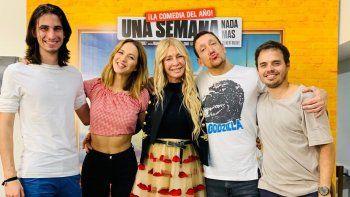 Cris Morena fue a ver Una semana nada más y se reencontró con los protagonistas de Casi Ángeles