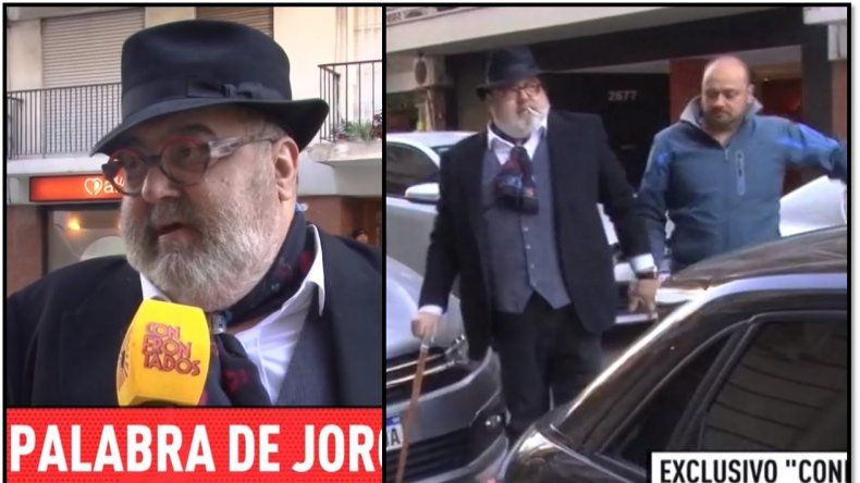 Jorge Lanata apareció caminando con bastón y habló de su enfermedad