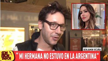 benjamin vicuna salio a contradecir a pampita: mi hermana no estuvo en argentina
