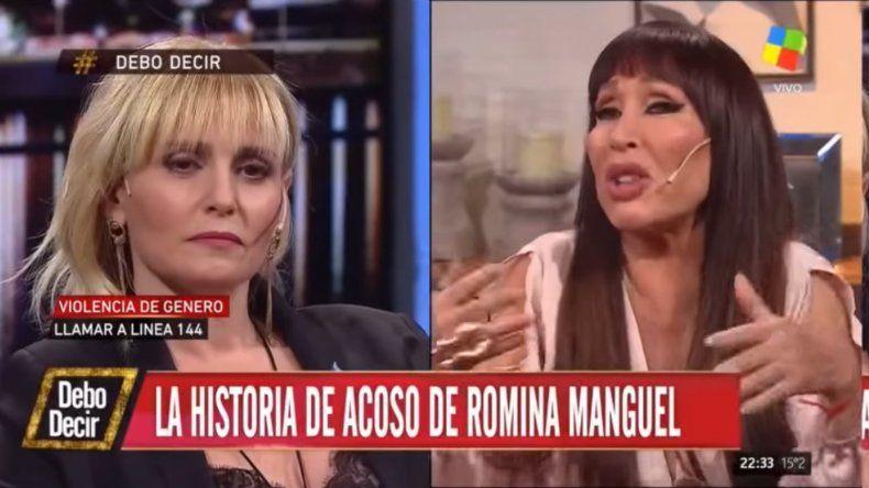Extrema discusión entre Moria Casán y Romina Manguel por su denuncia de acoso: Fue una guachada tuya