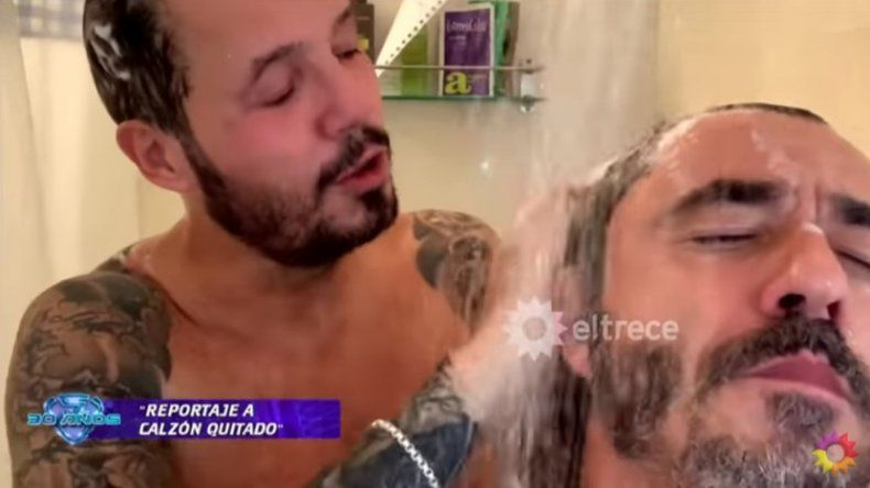 Marcelo Tinelli y Pablo Granados, en la ducha, hablaron de hacer un trío