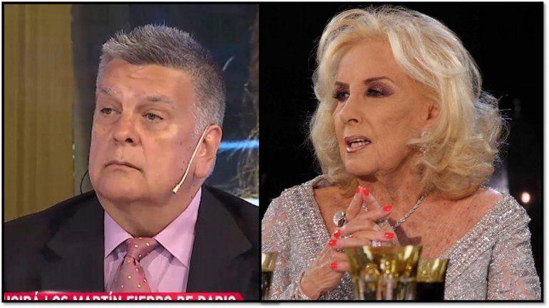 Luis Ventura habló con Mirtha Legrand, quién le informó que no irá a la entrega de los Martín Fierro y lo retó